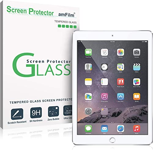 amFilm Screen Protector for iPad 9.7 Inch (6th Generation / 2018, 5th Generation / 2017), iPad Pro 9.7, iPad Air 2, a...