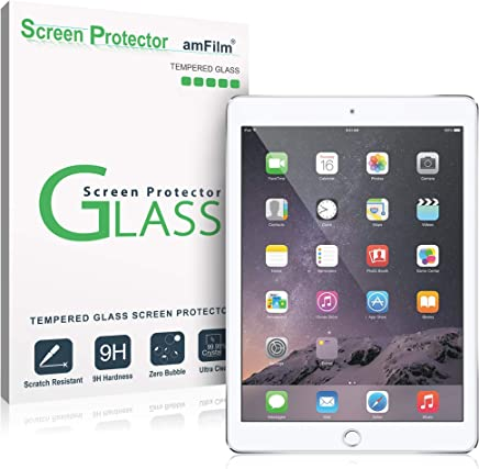 amFilm Glass Screen Protector for iPad 9.7 6th Gen, 5th Gen, iPad Pro 9.7, iPad Air, Air 2, Tempered Glass, Apple Pencil Compatible