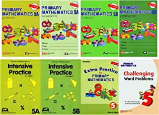 Singapore Math Primary Mathematics Complete Grade 5 Set (8 Books): 2 Textbooks, 2 Workbooks, 2 Intensive Practice, Extra Practice and Challenging Word