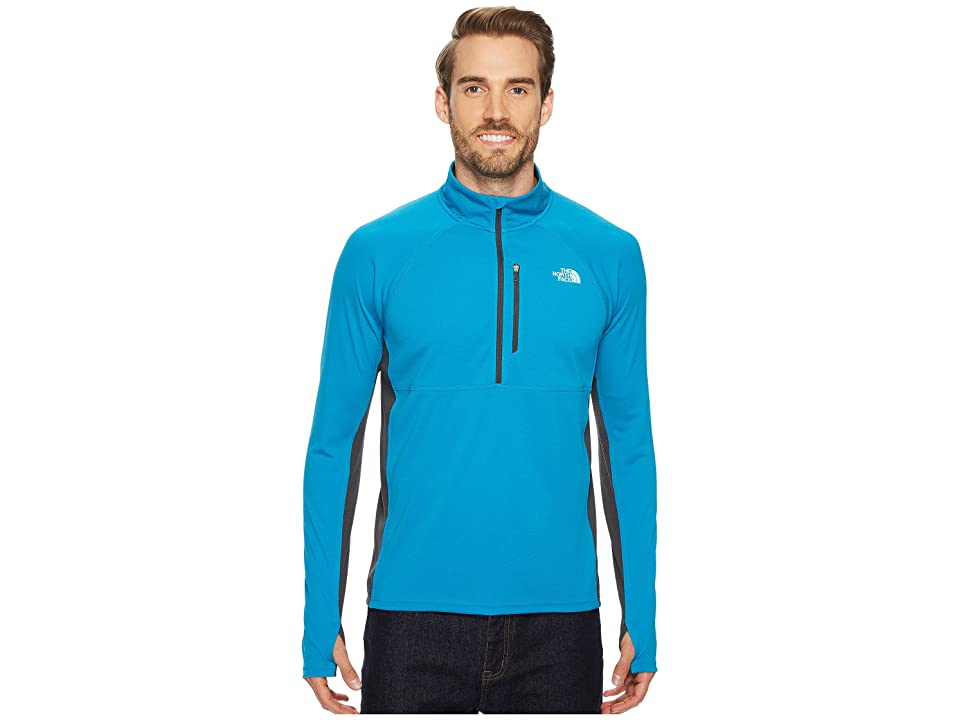 The North Face Impulse Active 1/4 Zip (Brilliant Blue Heather/Asphalt Grey) Men
