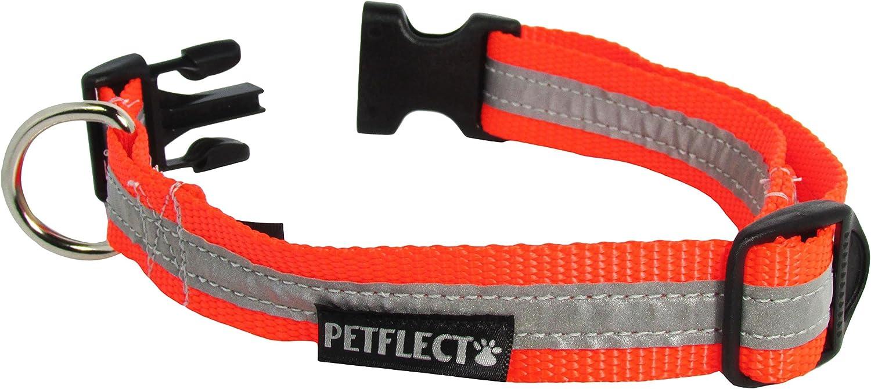 Petflect Reflective Collar, Fluorescent orange, XLarge