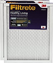 Filtrete MPR 1500 12x24x1 AC Furnace Air Filter, Healthy Living Ultra Allergen, 2-Pack