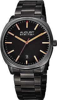 August Steiner Women's Quartz Watch with Stainless-Steel Strap, Black, 22 (Model: AS8237BK)