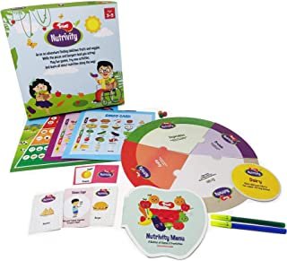 Toiing Nutrivity - Kids' Healthy Eating Play & Learn Kit with 4 Games and Activity Booklet | Fitness & Nutrition Game | Ac...