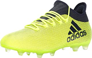 adidas Mens X 17.2 FG Soccer Shoe, Grey/Real Coral/Core Black,
