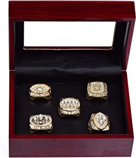 HASTTHOU San Francisco 49ers Championship Ring with Display Box 5 PCS Sets