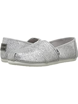 Girls TOMS Kids Silver Shoes + FREE