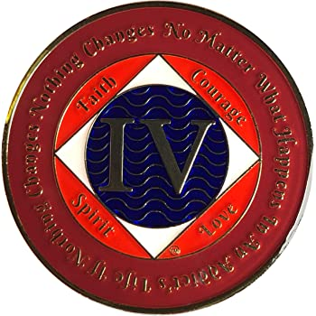NA 4 Year Medallion, Narcotics Anonymous Coin