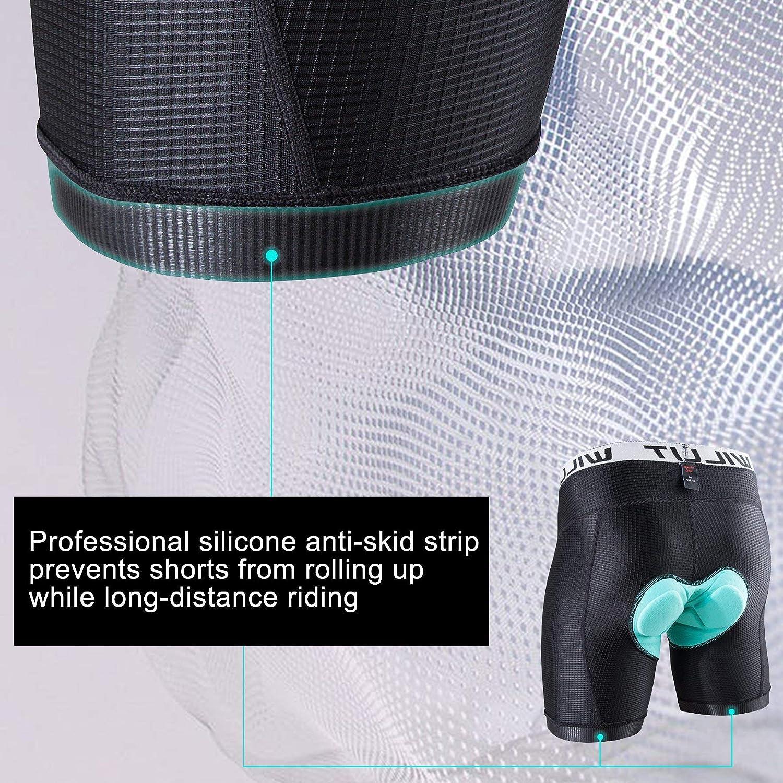 Willit Mens Bike Underwear Shorts 3D Padded Cycling Bicycle Shorts MTB Liner Shorts Anti-Slip