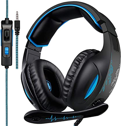 [Xbox one Headset, 2018 SADES SA816 Nuovo Cuffie Xbox one mic PS4 Gaming Headset] 3.5 mm Wired Over Ear Headset con microfono Deep Bass Noise Cancelling Cuffie per PS4 New Xbox one PC Laptop Mac iPad - Trova i prezzi più bassi
