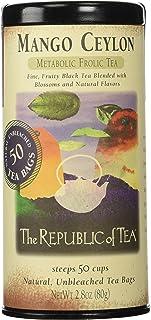 The Republic of Tea, Mango Ceylon, Metabolic Frolic Tea, 50 Count