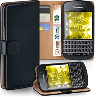 moex BlackBerry Q10   Phone Case with Wallet 360 Degree Book Phone Cover with Card Holder - Black