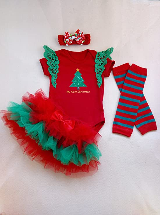 Soft Baby Pink Tutu Babies First Christmas Girls Red Tutu Skirt