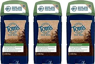 Tom's of Maine Men's Antiperspirant, Antiperspirant for Men, Mens Deodorant Antiperspirant, North Woods, 2.8 Ounce, 3-Pack