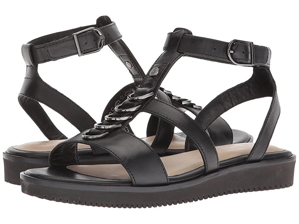 Hush Puppies Briard Ring T-Strap (Black Leather) Women