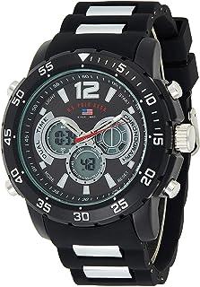 U.S. Polo Assn. Men's Quartz Watch, Analog-Digital Display and Rubber Strap US9544