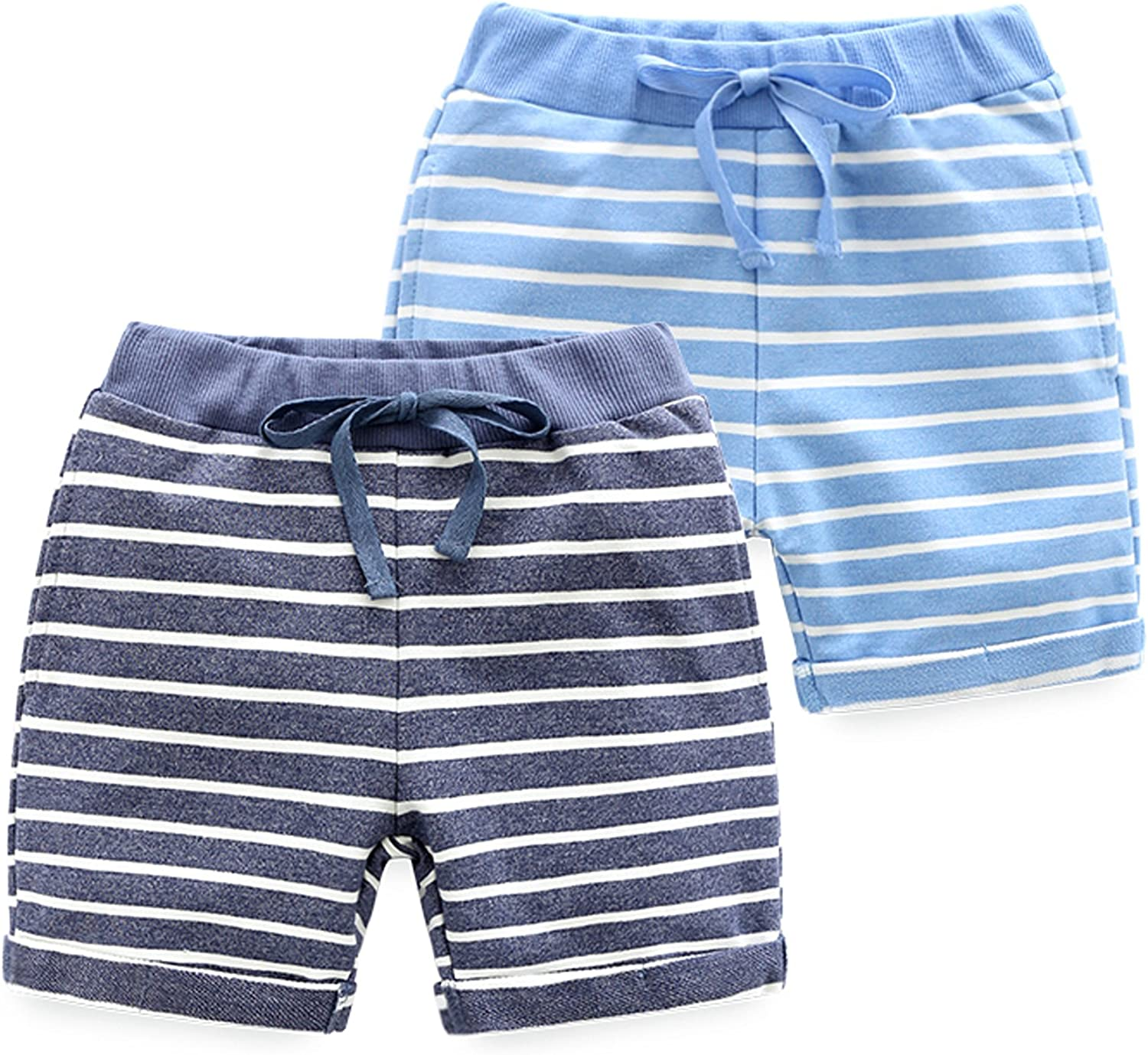 Pack HUAER/& Baby Boys Summer Knit Shorts 2
