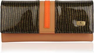 K London Women's Wallet (Orange,Beige) (1517_Beige_Orange)