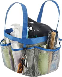 Haundry Mesh Shower Caddy Tote, Large College Dorm Bathroom Caddy Organizer with Key Hook and 2 Oxford Handles,8 Basket Po...