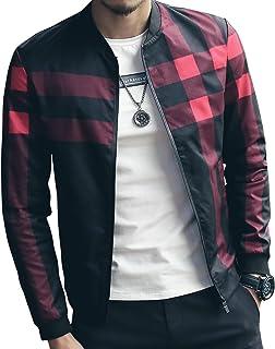 LOGEEYAR Men`s Bomber Jacket Casual Slim Fit Printed Outerwear Coat