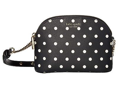 Kate Spade New York Spencer Cabana Dot Small Dome Crossbody (Black/Multi) Handbags