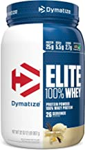Dymatize Elite 100% Whey Protein Powder, 25g Protein, 5.5g BCAAs & 2.7g L-Leucine, Quick Absorbing & Fast Digesting for Op...