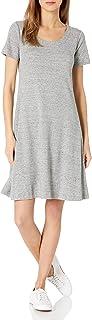 Amazon Brand - Daily Ritual Women's Pima Cotton and Modal Short-Sleeve Scoop Neck Dress