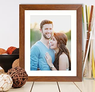 Art Street Synthetic Brown Wall Photo Frame (Picture Size 10 inches X 12 inches, Matted to 8 x 10 Inches)