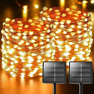Luci Solari Esterno, 【2 Pacchi】 22m 220 LED (Perlina Della Lampada Oversize Aggiornata) Catena Luminosa Esterno Solare Led...