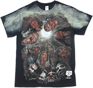 The Walking Dead Zombies Under The Moon Graphic Adult T-Shirt