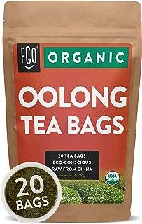 Organic Oolong Tea Bags | 20 Tea Bags | Eco-Conscious Tea Bags in Kraft Bag | Raw from China | by FGO