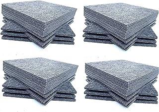 Panel de absorción acústica, 30.5 x 30.5 x 1 cm, color gris, azulejos de panel de aislamiento acústico, tratamiento acústi...