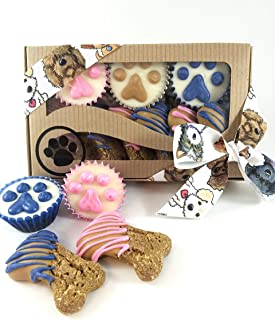 Wheat Free Dog Treats Mixed Box Of Treat Boy And Or Girl Dogs Paw Print Decorated