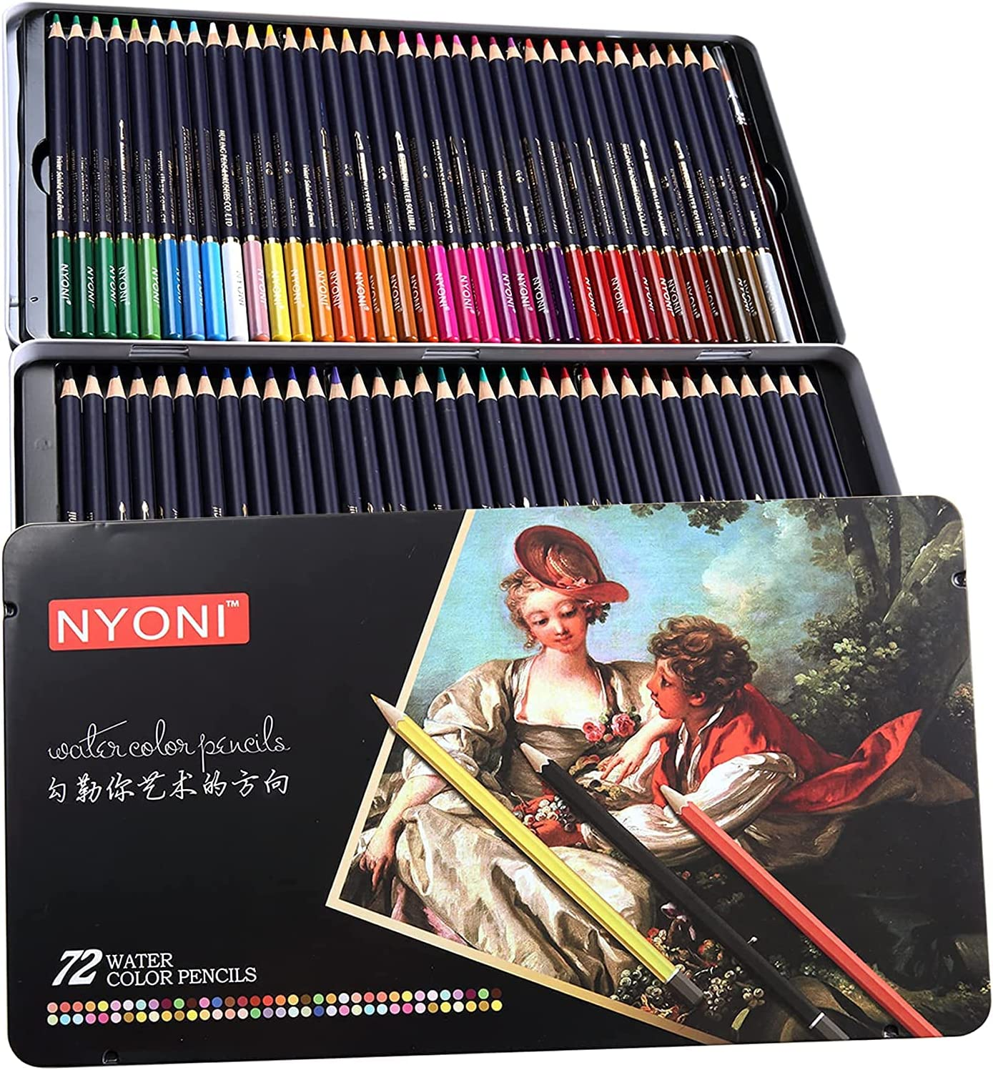 Nyoni Watercolor Pencils Set of Professional Colors for 1 year warranty Artis Austin Mall 72