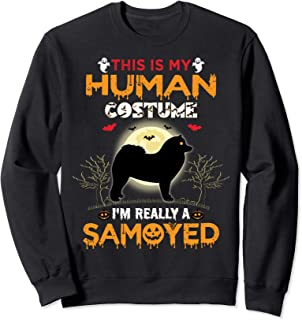 This Is My Human Costume I'm Really A Samoyed Halloween Sweatshirt