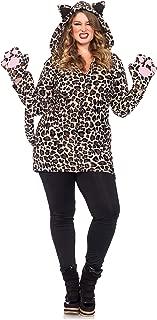 Women's Plus-Size Cozy Leopard Costume