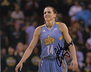 ALLIE QUIGLEY signed (CHICAGO SKY) basketball 8X10 *WNBA* photo W/COA #2 - Autographed WNBA Photos