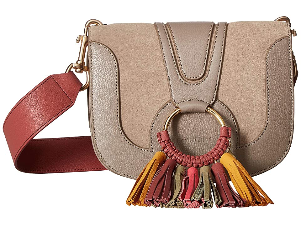 See by Chloe Hana Suede Leather Tote (Motty Grey 2) Tote Handbags