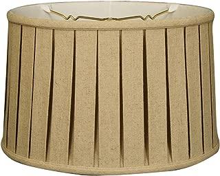 Royal Designs BS-748-10LNCR Shallow Drum English Bo X Pleat Basic Lamp Shade, 9 x 10 x 7, Linen Cream