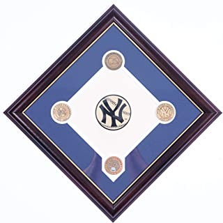 AUTHENTIC APPAREL MLB Commemorative Baseball Team Stadium Infield Dirt Diamond Plaque with Solid Bronze Medallion Set