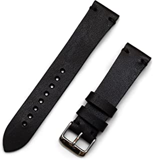 Benchmark Basics Horween Dublin Vegetable Tanned Leather Minimalist Watchband | Handmade in Brooklyn | 20mm & 22mm