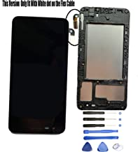 Eaglewireless Compatible LCD Display Screen Touch Digitizer Full Assembly Parts Replacement W/Frame Housing for LG Aristo 2/K8 2018/X 210/SP200 Tribute Dynasty/Zone 4 X 210V/Fortune 2/Risio 3