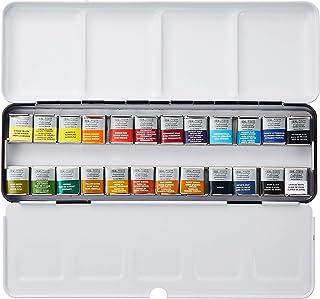 Winsor & Newton Professional Water Colour Lightweight Metal Box, 24 Half Pans