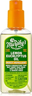 Murphy's Naturals Lemon Eucalyptus Oil Insect Repellent | Plant Based with All-Natural Ingredients | 4 Ounce Pump Spray