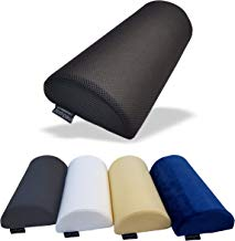 Medipaq® Almohada con cojín de espuma de memoria original Medialuna '- Cojín suave y firme en forma de D: se usa para el cuello, la parte inferior de la espalda, las rodillas, las piernas y los pies, prácticamente en cualquier posición.