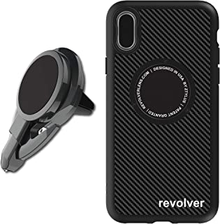Ztylus Stinger 3 in 1 Car Vent Mount Phone Holder Emergency Escape Tool + Phone Case: Vehicle Rescue, Magnetic, Spring Loaded Window Breaker, Razor Sharp Seat Belt Cutter (for iPhone Xs Max)