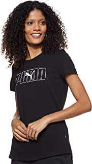 Puma Women's Rebel Graphic T-shirt, Black, X-Large
