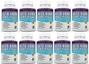 Keto Diet Pills Burn Shred BHB Salts Advanced Ketogenic Supplement Exogenous Ketones Ketosis Weight Loss Fat Burner Boost Energy Metabolism Men Women 60 Capsules 10 Bottles