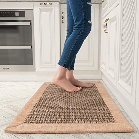 Amazon Com Kitchen Floor Mats For In Front Of Sink Kitchen Rugs And Mats Non Skid Twill Kitchen Mat Standing Mat Washable Kitchen Dining