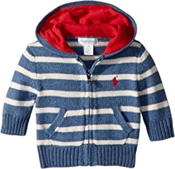 Striped Cotton Full Zip Hoodie (Infant)